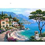Paint By Numbers Digital Painting _Diy Digital Paintingadult Coloring Landscape Architecture Celebrity Building Lakeside Town