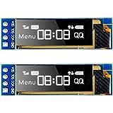 MakerHawk I2C OLED-skärmmodul I2C SSD1306 skärm liten modul 0,91 tum vit 128 x 32 I2C OLED-driver DC 3,3 V till 5 V för Ardui