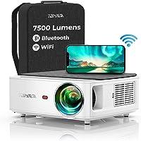 Vidéoprojecteur WiFi Bluetooth Full HD 1080P, YABER V6 7500 Lumens Projecteur WiFi Portable Soutiens 4K, Correction…