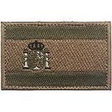 Parche bordado con bandera de España, 8 x 5 cm, diseño de bandera de España, bordado con gancho y lazo en la parte trasera (v