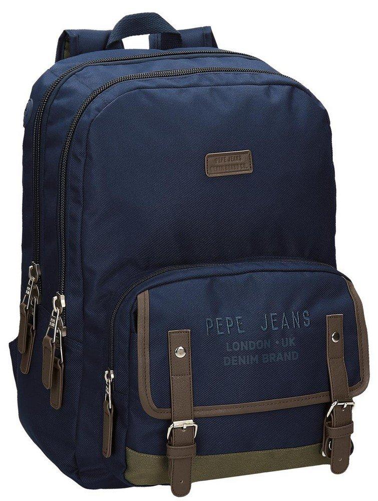 71RbXC14OiL - Pepe Jeans Alber Mochila Escolar, 42 cm, 19.44 litros, Multicolor