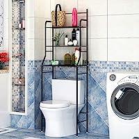 YIFAA Etagère de Salle de Bain MARSA Meuble de Rangement au-Dessus des Toilettes WC ou Lave-Linge avec 3 tablettes, en…