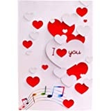 TIME TRADING CORPORATION Musical Singing Sings I Love You When Opened Greeting Card Great for Girlfriend, Boyfriend, Wife, Hu