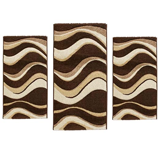 Set parure tappeto   scendiletto 3 pz tappeti sophie onde n226 ...