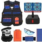 Joyhoop Kit de Chaleco Táctico para Niños, Chaleco Táctico para Niños para Pistolas Nerf N-Strike Elite.(Extra con Objetivo d