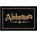 MoonWorks® Zerbino con scritta Alohomora Zerbino per gli appassionati di fantasy, antiscivolo, lavabile, nero, 60 x 40…