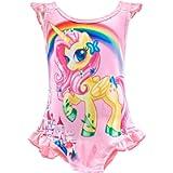Lito Angels - Costume intero da bagno da bambina con unicorno, estivo, spiaggia, piscina, abbigliamento laterale