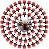ysister 200 Piezas Riego por Goteo 8 Hole Red Ajardinamiento por Goteo Equipo de riego Accesorios de jardinería Micro Boquill