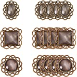 PandaHall Kit per ciondoli collane Fai da Te con basi di ciondoli di Lega e cabuchon di Vetro Transparente, Mixed Shape, Anti