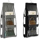 LXTaoler Organiseur de sac à main suspendu, 2 pièces 6 poches anti-poussière, sac de rangement pour armoire, placard, système
