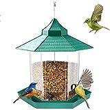 E-More Mangeoire À Oiseaux, Lanterne Suspendue Mangeoire À Oiseaux Mangeoires À Graines De Jardin Abris De Pluie Résistant Au