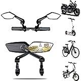 2 PCS Rétroviseurs vélo bicyclette scooter moto haute gamme   Compatibles tous modèles Réglable 360 Rotatif Faites le tour de