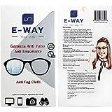 E-WAY Gamuza de microfibra antivaho para gafas de 400 aplicaciones y 24 horas de efecto | 15x15cm | Para multiples usos | Ant
