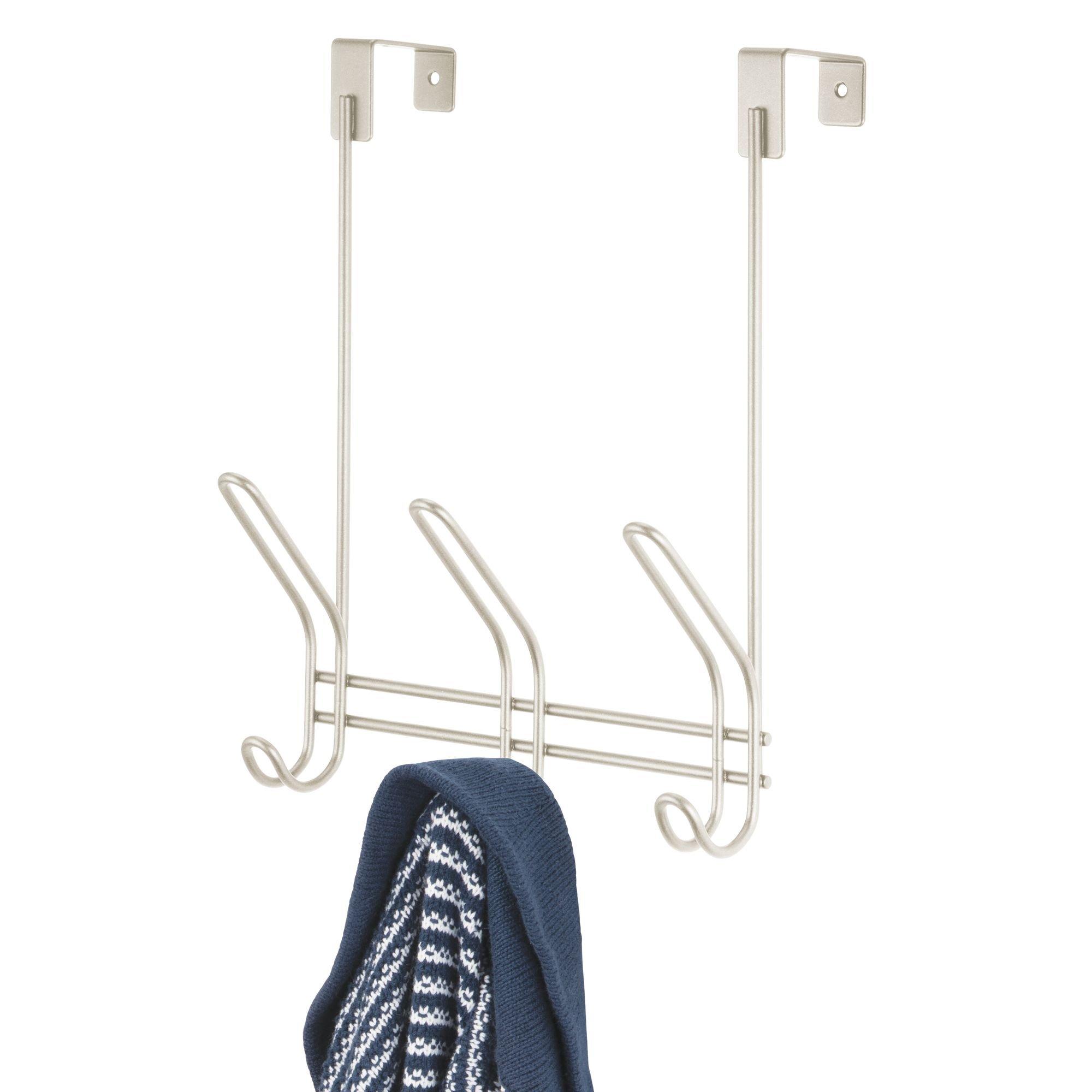 Attaccapanni Per Porta.Mdesign Appendiabiti Per Porta In Metallo Pratico Appendi Cappotti Giacche E Cappelli Attaccapanni Da Porta Con 3 Doppi Ganci Ideale Per La