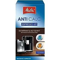 Melitta Kit d'Entretien, Pour Machines à Café Automatiques, 4 Détartrants en Poudre (4 x 40 g), 4 Pastilles Nettoyantes…