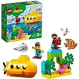 LEGO 10910 DUPLO Town ubåtäventyr, badleksak som gör luftbubblor, byggsats för barn i åldern 2 år
