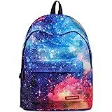 FANDARE Schulrucksack Galaxy Schultasche Junge Mädchen Rucksäcke Schulranzen Teenager Tagesrucksack Reise Daypack Damen 14 Zo