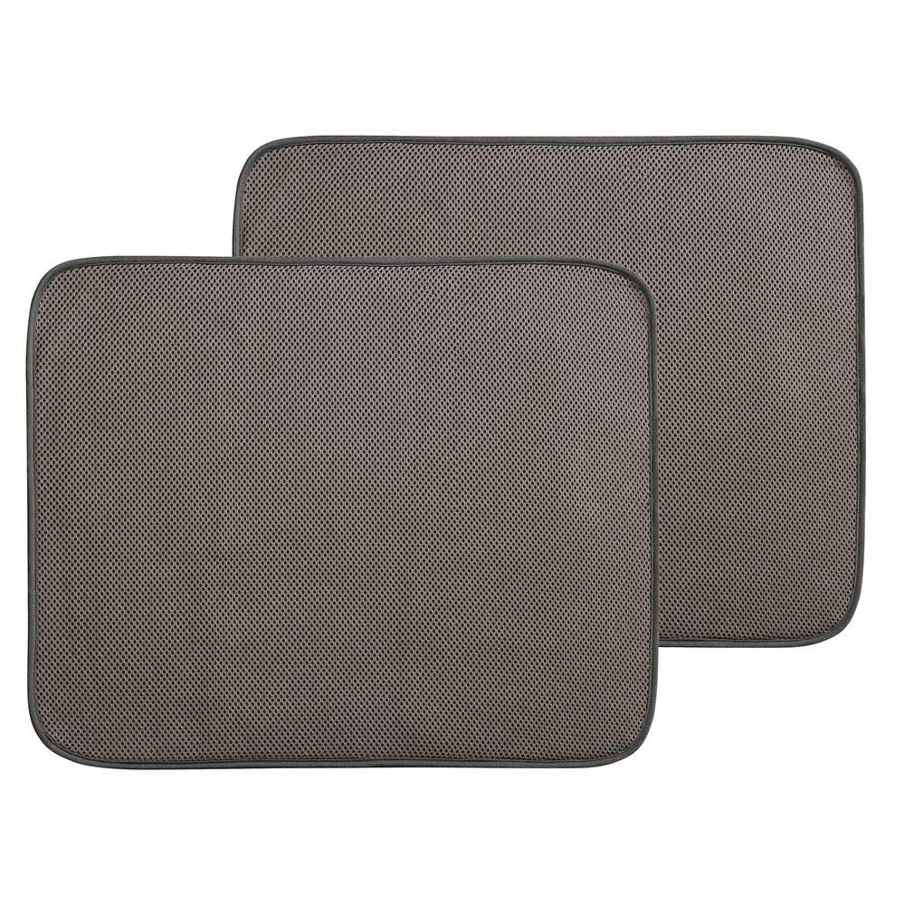 mDesign Set da 2 Tappetini per lavello cucina - Set di Accessori cucina  ideali per asciugatura rapida di padelle, piatti e posate - Tappetini ...