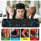 Sunnila Tabla de Flexiones, 16 en 1 Push Up Board Plegable Multifunción, Push Up Tabla Board Gym Fitness System Equipo de Fit