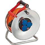 Brennenstuhl Garant S IP44 Kabelhaspel (40 m kabel in oranje, plaatstaal, voor gebruik buiten, Made in Germany)