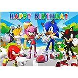 Sonic Fotografía Telón de Fondo 150 * 100 cm Decoración de cumpleaños la Fiesta de Navidad de Fondo Feliz año Nuevo Nochebuen
