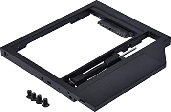 """New 9.5mm Universal 2nd HDD/ssd Caddy SATA 2.5"""" Hard Drive Enclosure for Laptop Plastic – Black"""