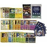 Pok Pokémon 50 Pokémon kaarten zonder dubbele kaarten + 1 willekeurige Pokémon Booster + 2 glanzende cadeaukaarten + 1 zeldza