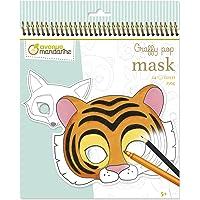 Avenue Mandarine - Carnet à Spirale Graffy Pop Mask Animaux - 24 Masques à Colorier prédécoupés - Papier Clairefontaine…