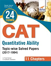 24 years Quantitative Ability CAT Topic-wise Solved Papers (2017-1994)