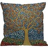 Klimt//Tree of Life-Tree CCOV-Art-Klimt-2 Signare D/écoration Housse de Cousin 45x45cm de Tapisserie pour Canap/é Lit Chaise Si/ège Salon