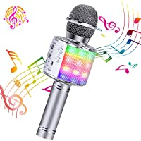 ShinePick Microfono Karaoke, 4 in 1 Bluetooth Wireless Microfono Portatile Karaoke Player con Altoparlante per Android…