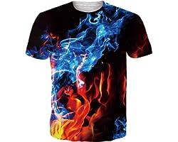 NEWISTAR Unisex 3D Printed Summer Casual Short Sleeve T Shirts Tees