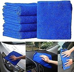 5 Stück Mikrofasertücher Mikrofaser Reinigungstücher Haushalt Auto Reinigungstuch Poliertücher Küche Spültuch Blau