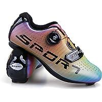 Unisex Scarpe Ciclismo Scolorimento Moda Scarpe Bici da Corsa Strada Traspirante Anti-Scivolo Coppie Scarpe da Bici con…