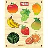 Zitto Premium Wooden Fruits Educational Puzzle Toy