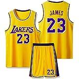 SFVE Camiseta De Baloncesto Lebron James Los Angeles Lakers # 23, Cómoda Ropa Deportiva para Niños Adultos Y Equipo De Compet