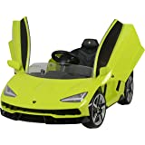 Dorsa Kids Ride On Lamborghini Centenario Battery Operated Supercar with Parental RC, Grey, 6726-GREY