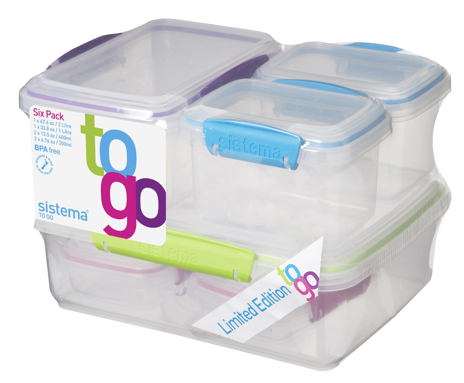 Captivating Sistema To Go Breakfast Food Storage Containers Pack Of 6 Top Quality Brand  New