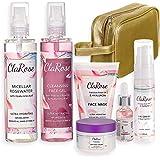 ClaRose, set regalo antietà per Lei, con crema viso, crema occhi, acqua micellare, gel viso detergente e maschera viso con ol