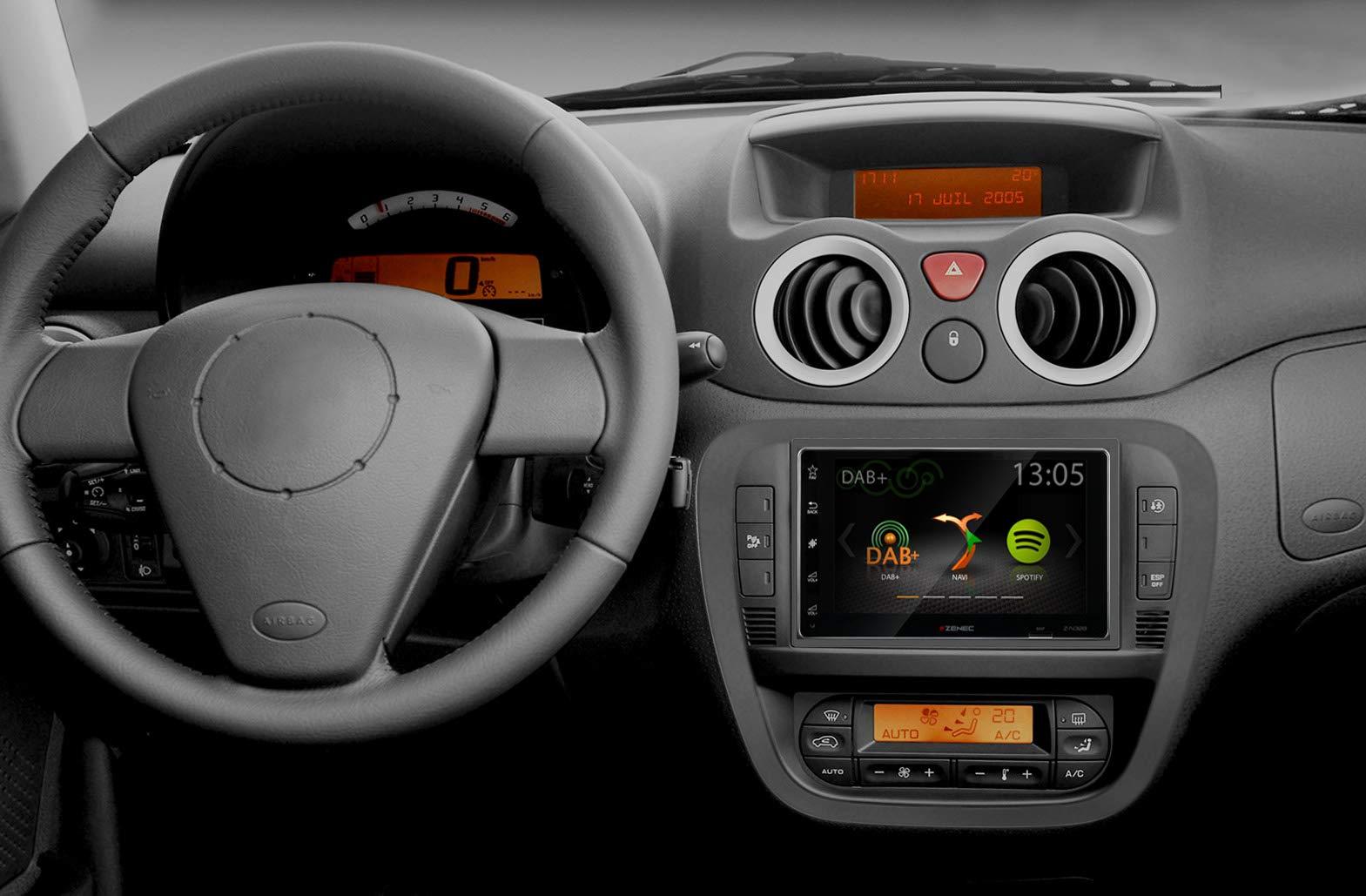 ZENEC-Z-N328-2-DIN-Infotainer-mit-DAB-und-Spotify–Kapazitiver-62157-cm-169-TFT-Touchscreen-Bildschirm–Smartlink-Direct-Anbindung-von-iOSAndroid-Smartphones
