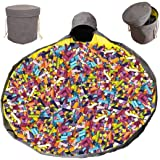 Toy Storage Organizer Baskets,ShowTop Large Play Mat Outdoor Toy Quick Storage Bag Collapsible Canvas Basket/Bin for Kids Roo