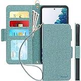 "Skycase Samsung Galaxy S20 FE Case 5G 6.5"", [RFID Blocking] S20 Wallet Case, Handmade Flip Folio Wallet Case with Card Slots"