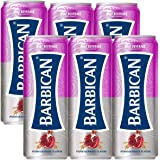 Barbican Refreshing Pomegranate Flavour with Taste of Malt Non-Alcoholic Malt Drink Beer Can (250 ml) - Pack of 6