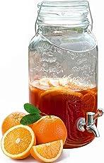 Glas-Getränkespender Einmachglas, mit Metallbügelverschluss, 4 Liter, H: 31 cm 78/7820