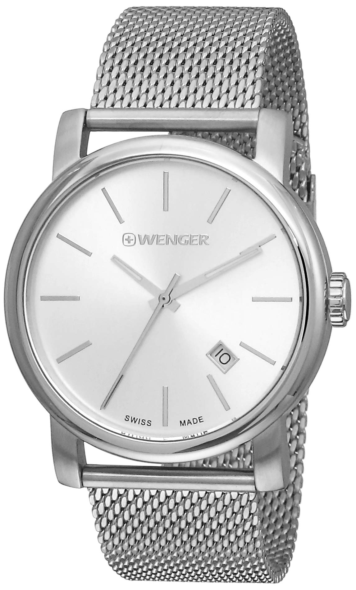 Wenger Men's Analogue Quartz Watch with Stainless Steel Strap 01.1041.121