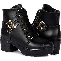 Longwalk Women Fashion Casual Boot High Ankle Heel for Girls Boot