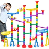 AM ANNA 122Pcs Marble Maze Game Building Toy for Kid, Marble Track Race Set
