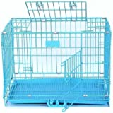 GS Double Door Folding Metal Dog Cage (Size :30 Inch)