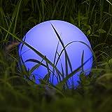 Lampe Globe avec Changement de Couleur, Homever LED Lumière de Balle Flottante Étanche Éclairage Extérieur, Lumière Sphérique avec 9 Modes de Changement de Couleur, pour Jardin/Bassin/Piscine/Fête