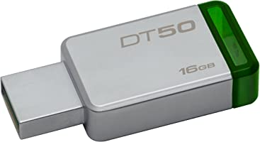 Kingston DT50/16GB, USB 3 DataTraveler 50, 16 GB, Metalik / Yeşil